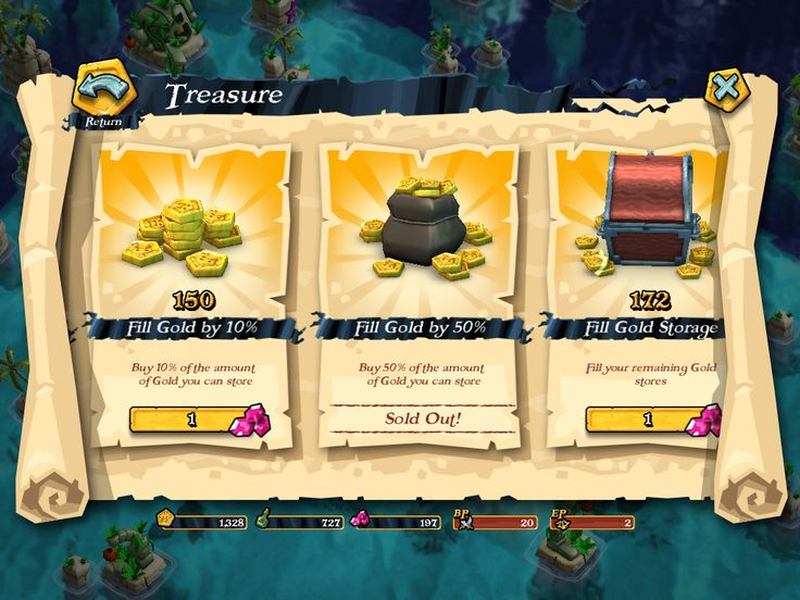 Plunder Pirates by Midoki - Store Soft Currency - Game UI HUD Interface Art iOS Apps