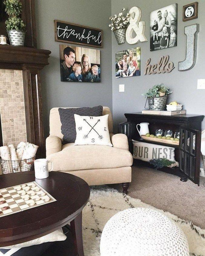 50 Creative Living Room Wall Decoration Ideas 29 Farm House