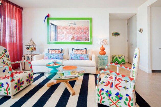 Яркие гостиные комнаты