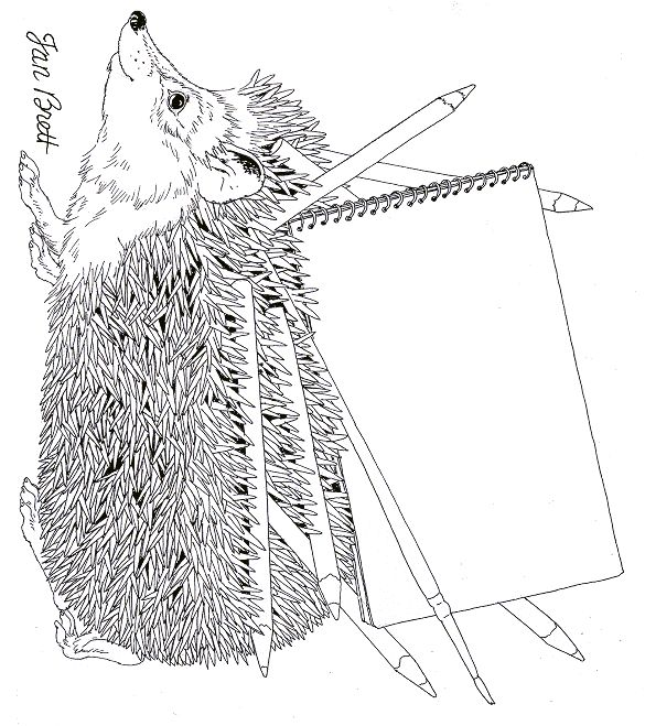 Hedgehog Drawing Coloring Pages Hedgehog Drawing Coloring Books