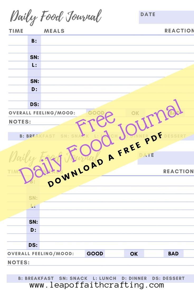 Food Diary Pdf Grab A Free Printable To Keep Track Of Your Food Food Diary Template Food Journal Printable Food Diary