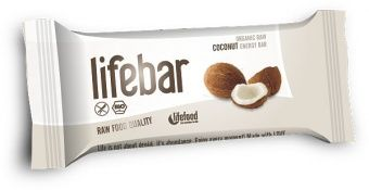 Lifebar RAW ENERGY BARS Coconut
