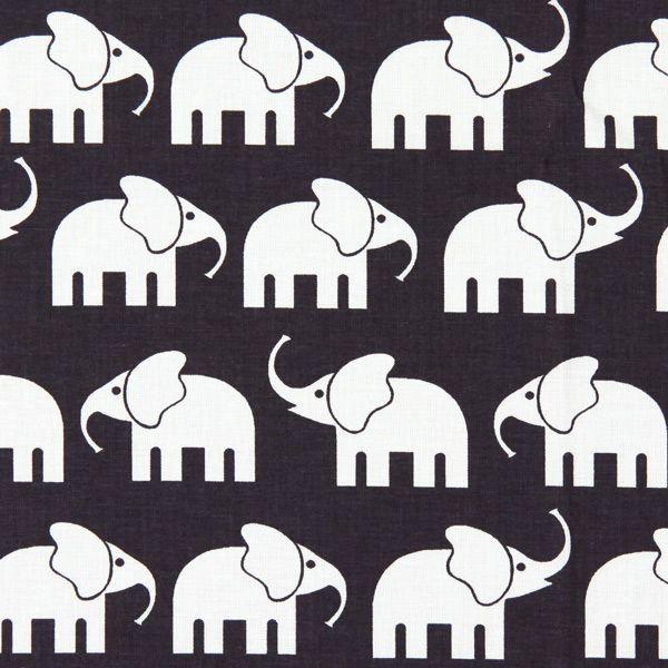 Cotton Elephant 2 - Dekotyger för barn- tyg.se