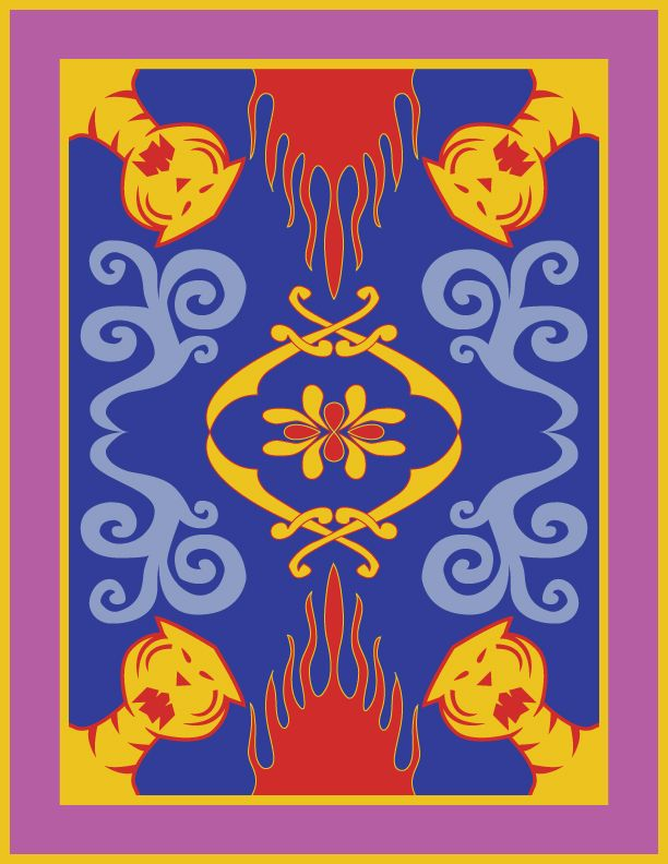 Minimalist Aladdin Poster Magic Carpet Geek Love