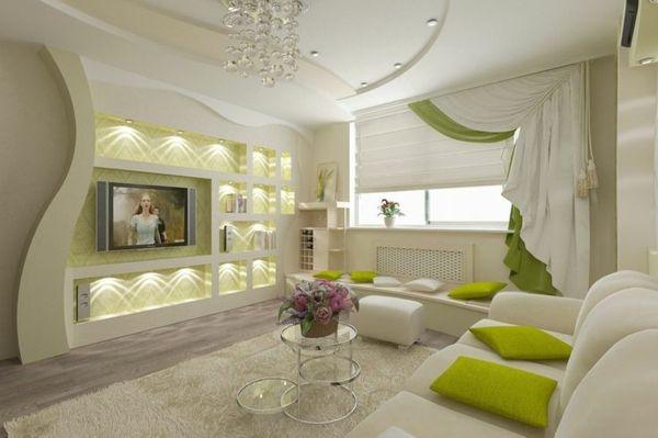 Wohnzimmer Modern Grun. Wohnzimmer Gemütlich Weiß Sofa Grün Sessel