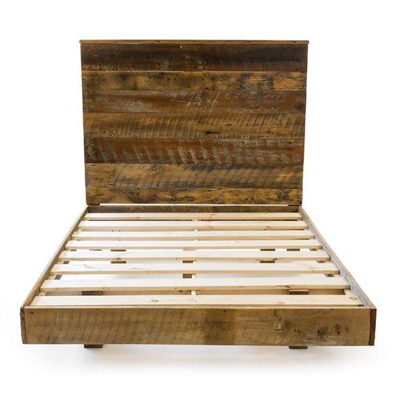 Reclaimed Barnwood High Headboard Bed Set | bamboo | King $2,298