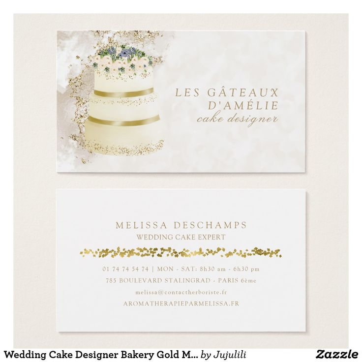 283 best stylish business cards mommy cards images on pinterest wedding cake designer bakery gold marble business card reheart Image collections