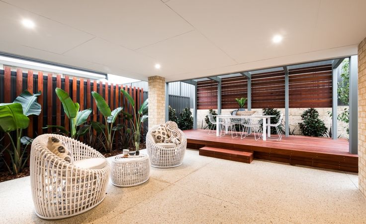 The alfresco is perfect for entertaining all year round
