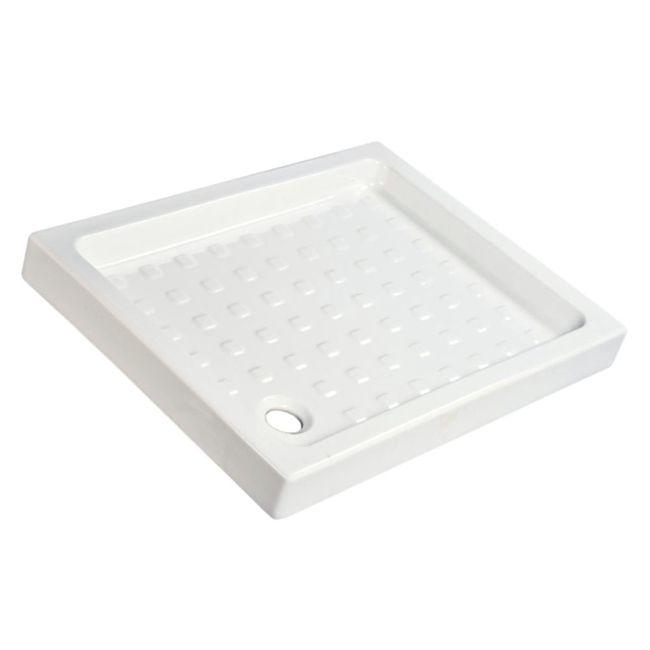Plato de ducha de porcelana, 100x70cm, antideslizante.