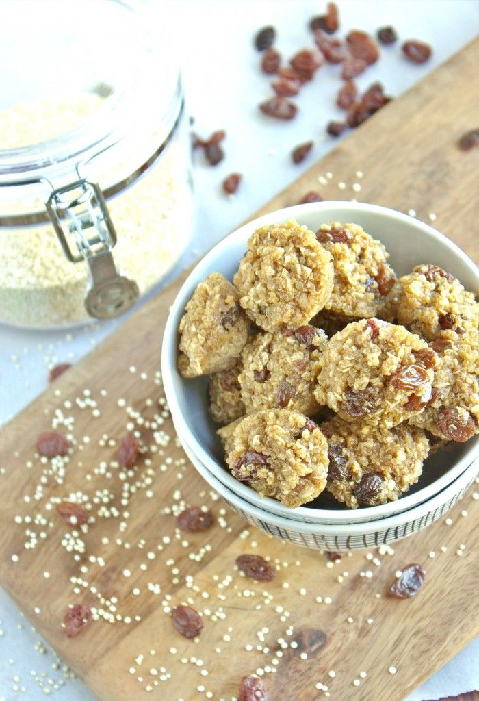 Cinnamon Raisin Quinoa Bites I have to make another batch because hubby finished the last one!