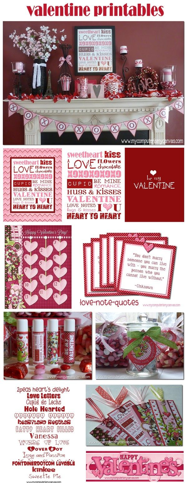 My Computer is My Canvas: Valentine's Day Printables