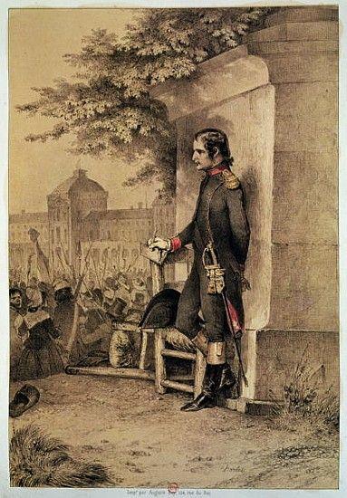 Nicolas Toussaint Charlet - Bonaparte assistant à l'assaut des Tuileries, 10 Aout 1792