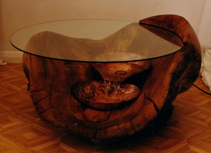 Coffee Table With A Water Feature For The Home Pinterest