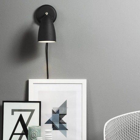 Nexus 10 væglampe - Sort - Nordlux