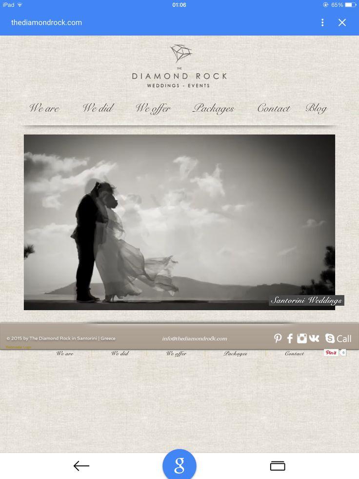 Our wedding web site weddings at Santorini Greece planners
