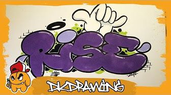 how to draw graffiti art step by step on paper