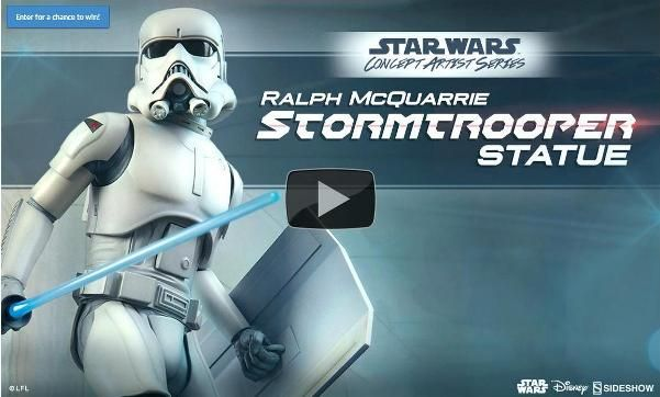 ToyzMag.com » Preview Sideshow: Ralph McQuarrie Stormtrooper Statue
