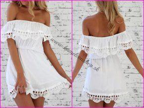 Biele šaty Vintage