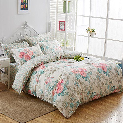 Uozzi Bedding 3 Piece Duvet Cover Set Queen/Full Reversible Printing with Brushed Microfiber Lightweight Soft Comfortable  Durable (Queen)