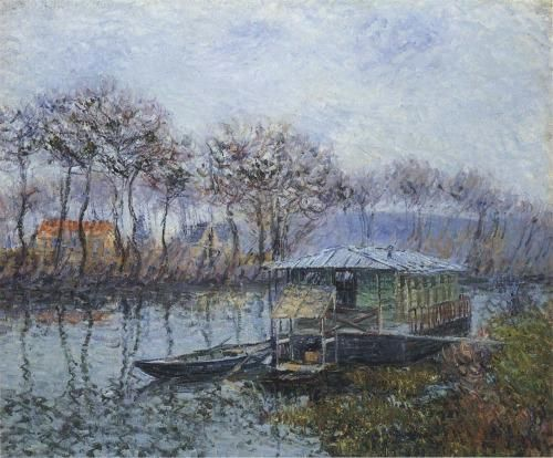 thusreluctant: The Seine at Port-Marly by Gustave Loiseau #Art