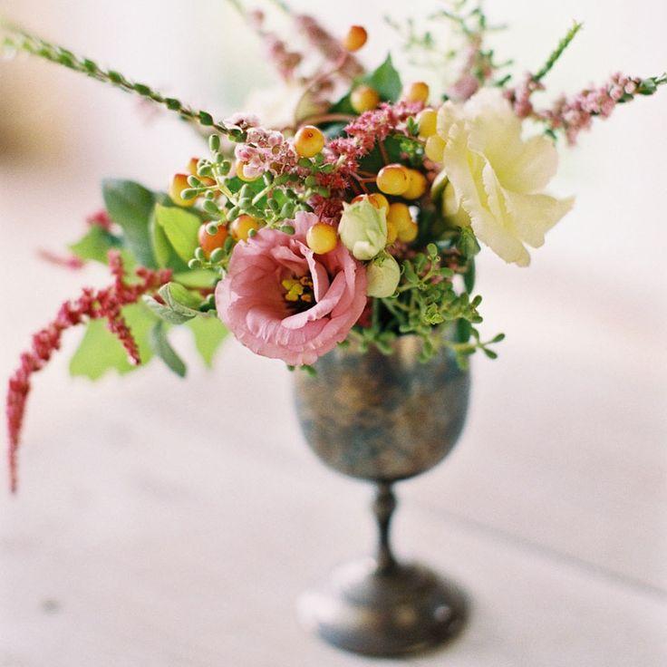 Brass Vase for small floral arrangements