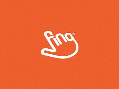Fing by Mohamed Shihab: Logo for a mobile app developing company who works on finger print analyzing concepts. #Pictogram #Logo