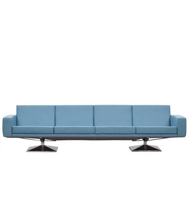 Laauser Designer Leder Sofa Garnitur Blau Dreisitzer Zweisitzer ...