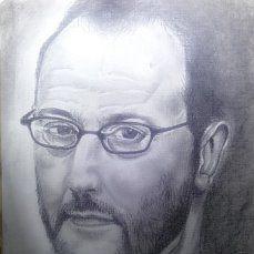 Жан Рено. карандаш