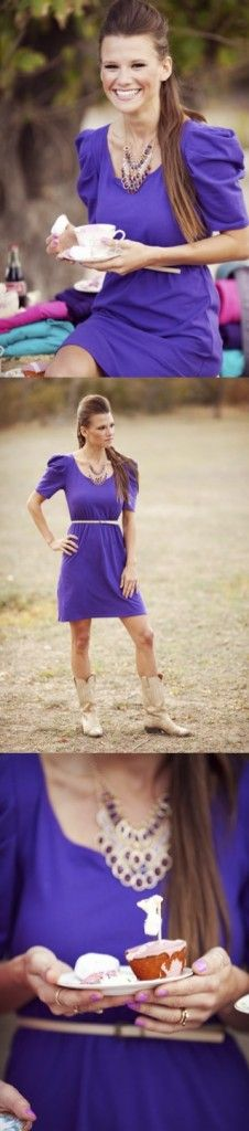 Taylor Dress in Purple!  Perfect for LSU and TCU Game-Day Dress needs!!