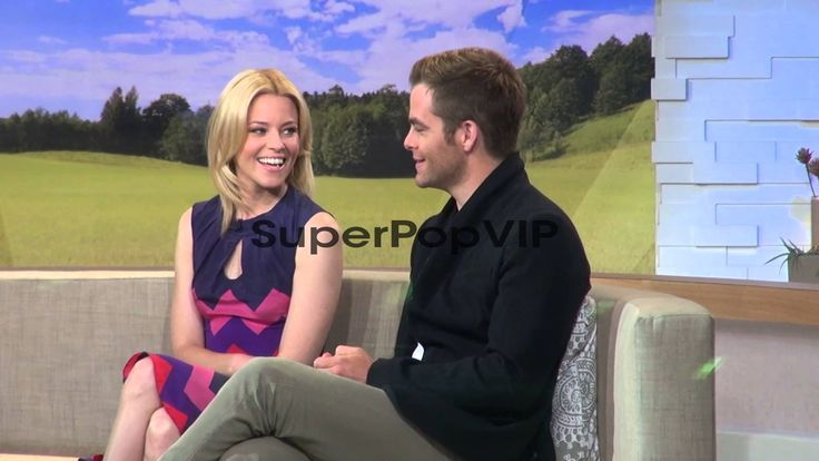 Elizabeth Banks and Chris Pine at the 'Good Morning Ameri...