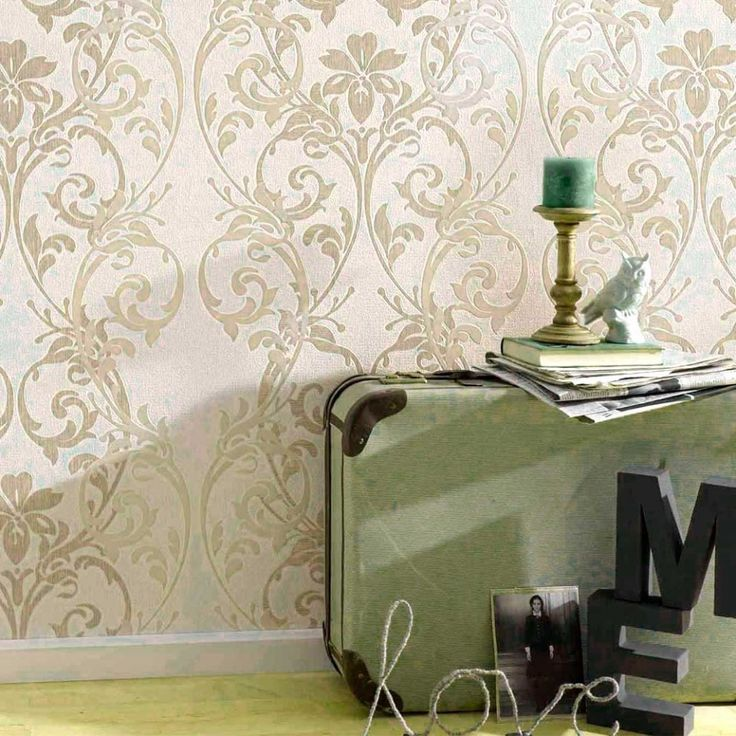 Las 25 mejores ideas sobre papel pintado damasco en - Empapelar sobre azulejos ...