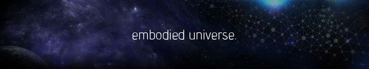 Create a futuristic dark-themed banner for my blog Embodied Universe by mo2ncreation