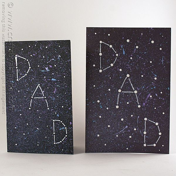 Galaxy Constellation Father's Day Card - Crafts by Amanda