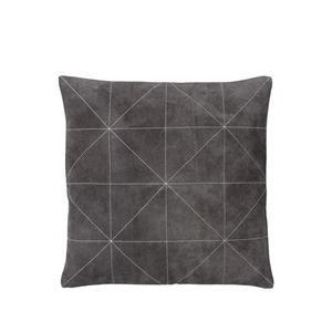 Södahl Triangle Suede Cushion Pude Grå 45x45