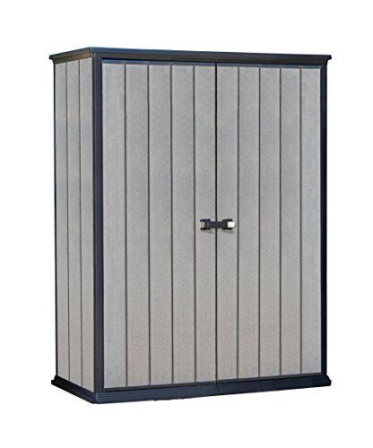 Keter High Store Outdoor Plastic Garden Storage Shed, 139.5 x 77 x 181.5 cm - Grey---194.95--- #plasticgardensheds