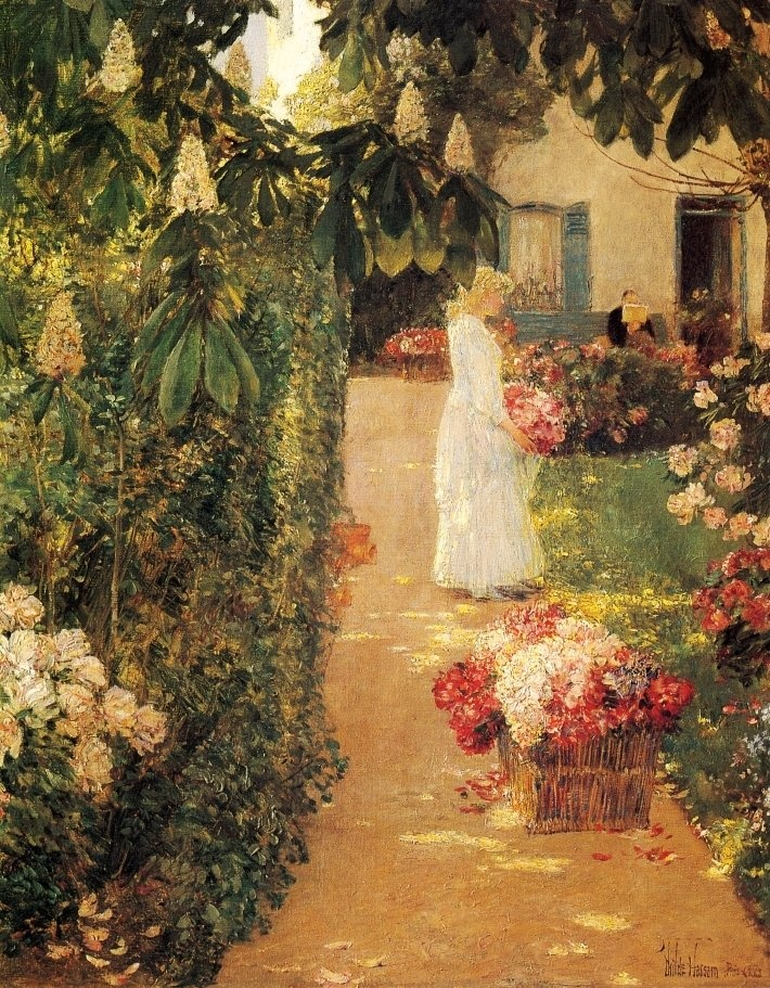 http://i036.radikal.ru/0907/96/a6dc09798853.jpg: Artists, Art Museums, Frederick Child, Heart Art, 1888, French Gardens, Paintings, Child Hassam, Gathering Flowers