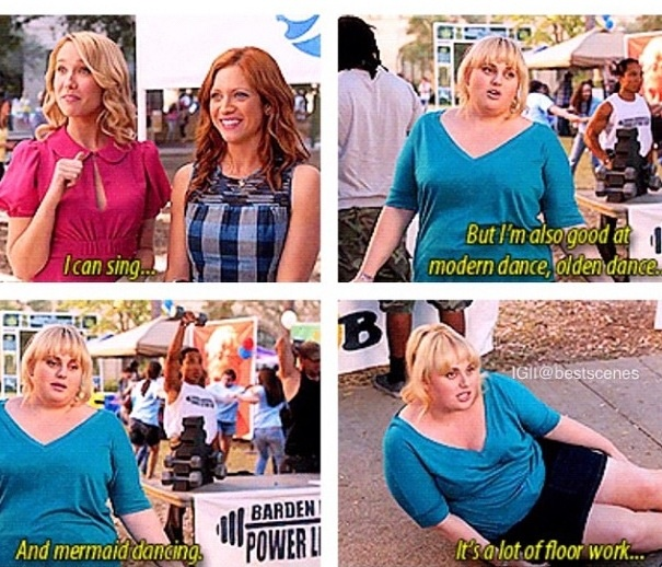 Pitch perfect, freaking LOVE this movie!!