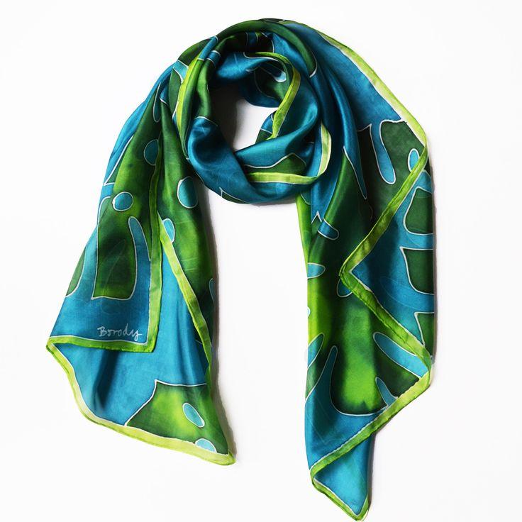 Monstera leaf shawl, Tropical sik shawl,  Green Palm leaf shawl, Summer scarf, Minimal design scarf, Beach scarf, Nature scarf, by silkandmoreshop on Etsy https://www.etsy.com/listing/565197264/monstera-leaf-shawl-tropical-sik-shawl