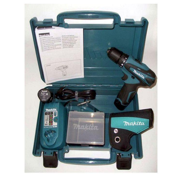[LojaDoMecânico] Furadeira-Parafusadeira Makita sem fio com maleta e 2 baterias - 299,90