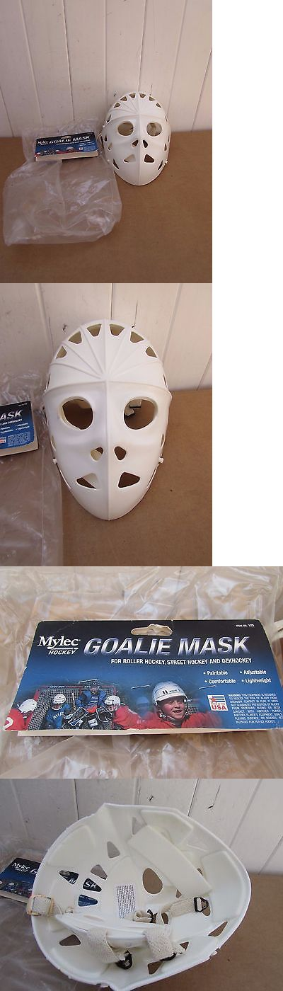 Face Masks 79762: Vintage Mylec Goalie Mask Adult Size Street Hockey New In Package -> BUY IT NOW ONLY: $100 on eBay!