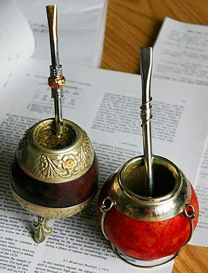 YERBA MATE GOURD AND STRAW | Of calabash gourds and silver straws—secrets of Mate vessels. (GNU ...