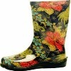 Slogger Rain Boots in Floral or Paisley Black Blue Red Yellow: Shoes
