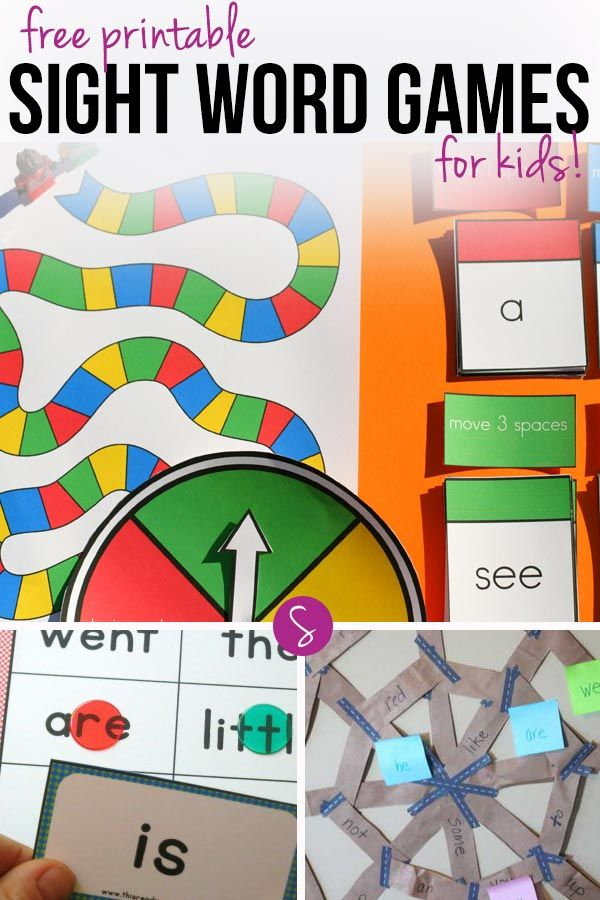free printable sight word games to help your child learn to read