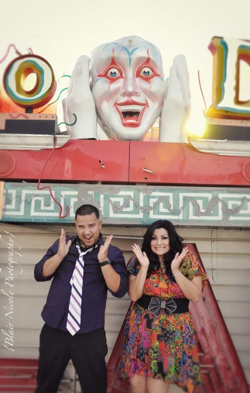 Las Vegas Neon Boneyard Blair Nicole Photography #neon #NeonBoneyard #Engagement #portraits #LasVegas