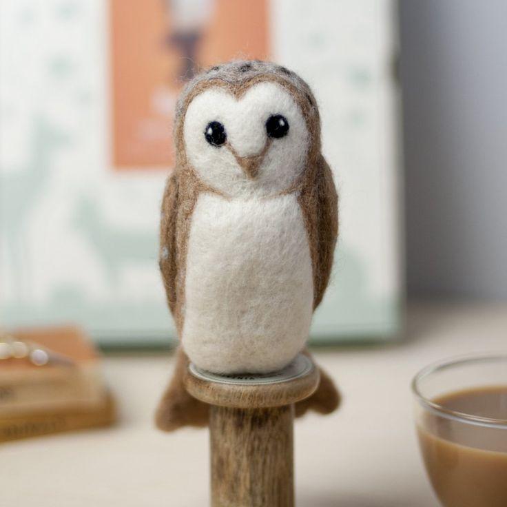 Barn Owl Needle Felting Kit