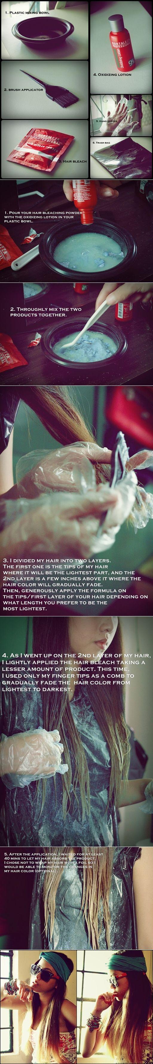 DIY Ombre Hair tutorial. Check out my blog! www.itsnikki.com