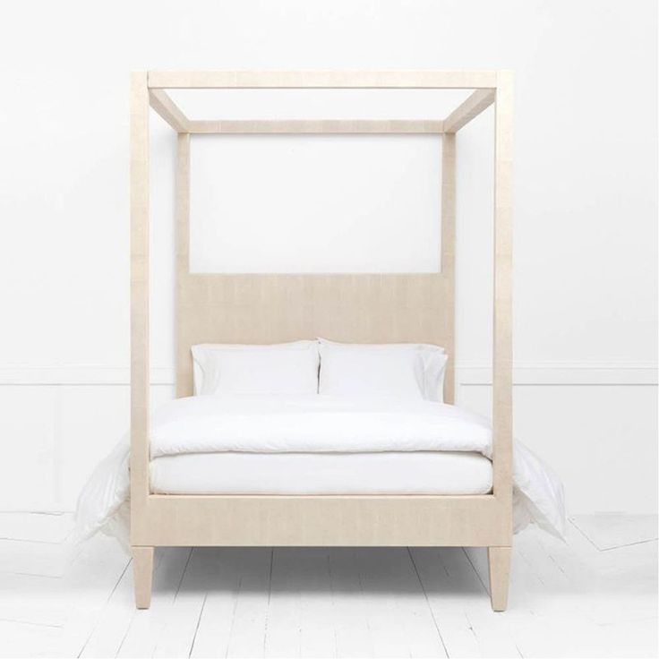 made goods sorin offwhite vintage faux shagreen bed