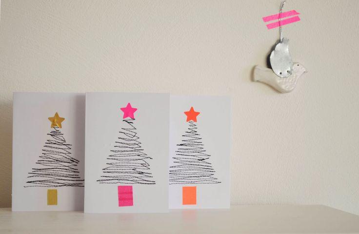 Vier Vandaag!: tutorial kerstkaarten maken- DIY christmas cards