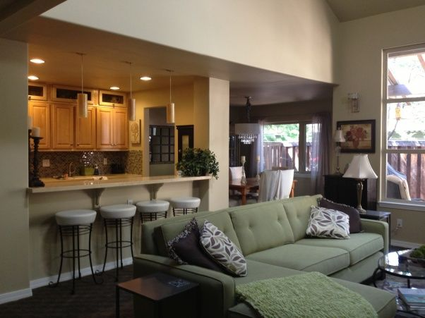 Galley Kitchen Makeover Open Kitchen And Living Room Kitchen Remodel Layout Livingroom Layout