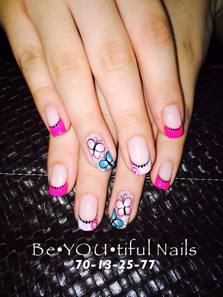 Mariposas, uñas, colores | Diseños de uñas mariposas, Uñas ...